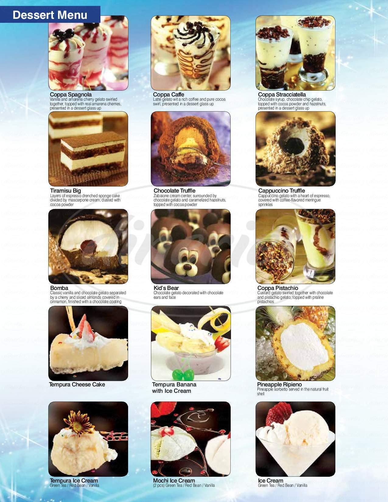 menu for Kumo Sushi