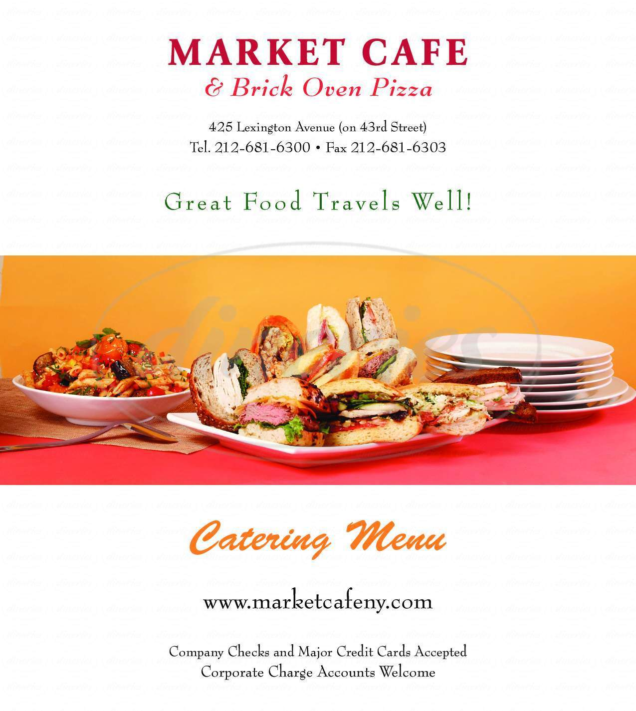 menu for Market Cafe