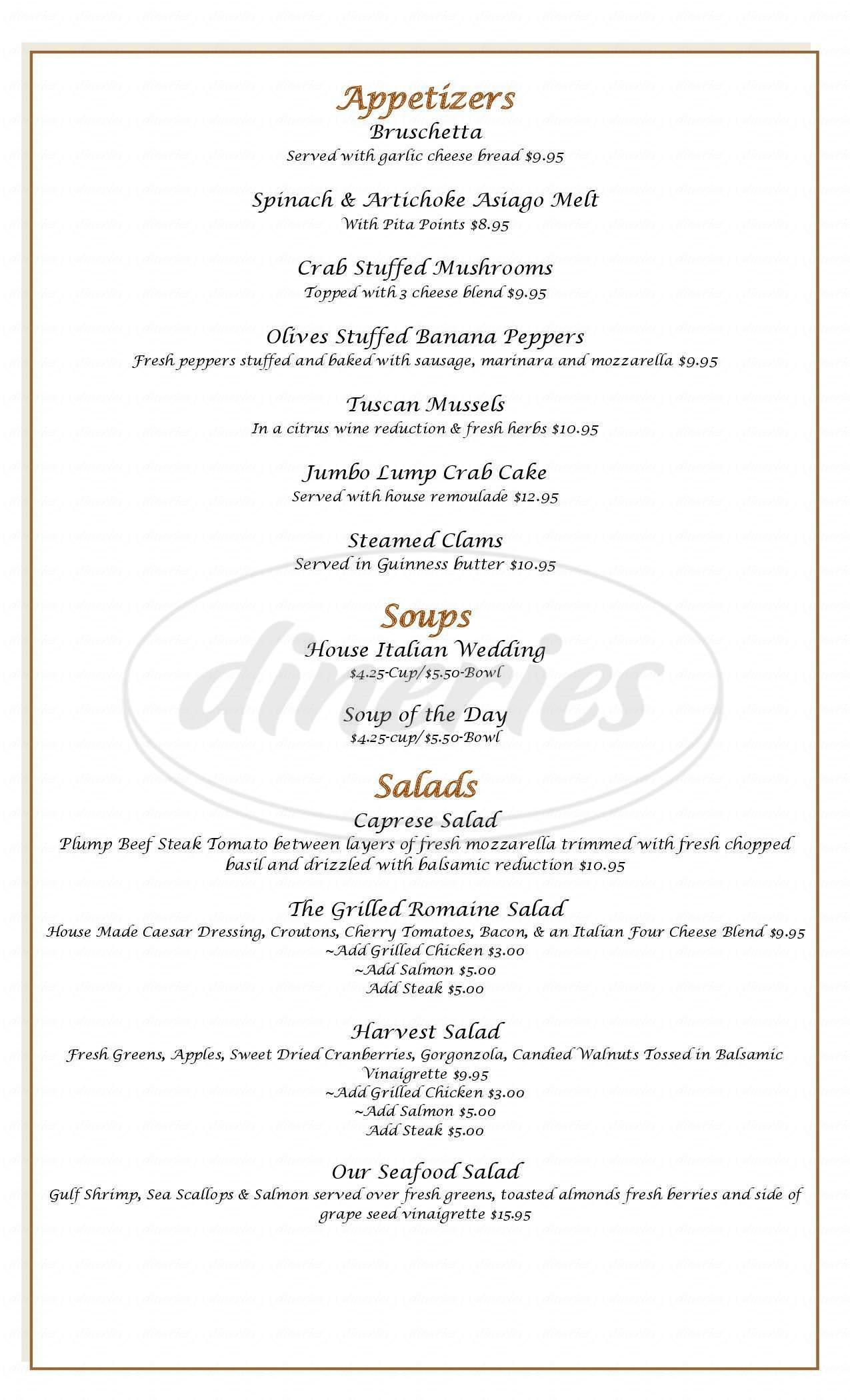 menu for Olives