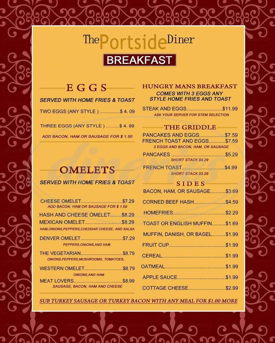 menu for Plaza23