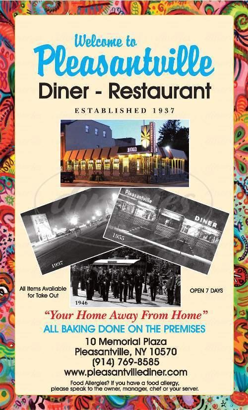 menu for Pleasantville Diner