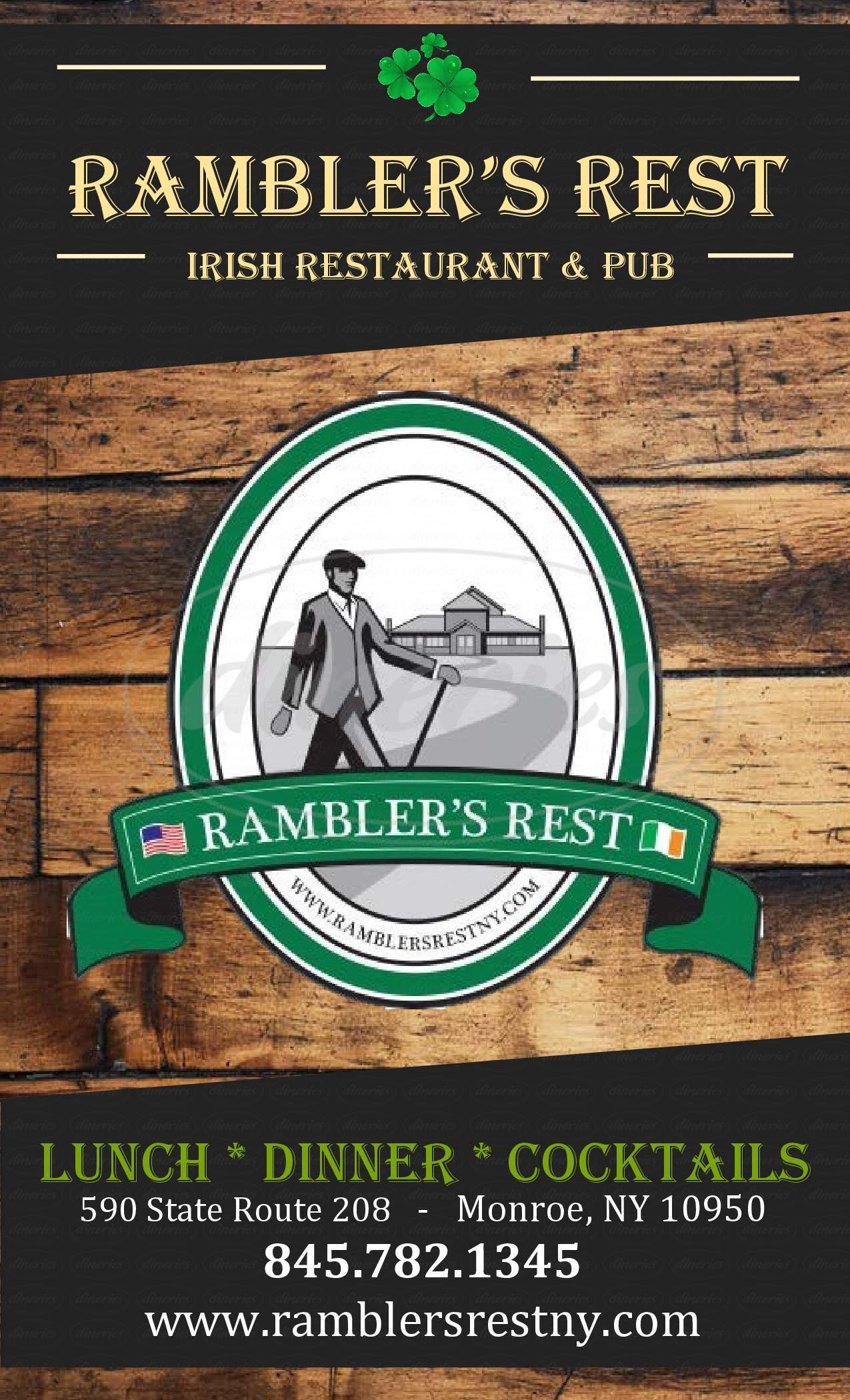 menu for Rambler's Rest