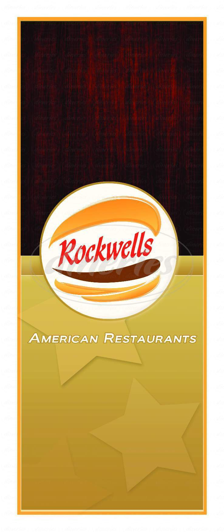 menu for Rockwells Restaurant