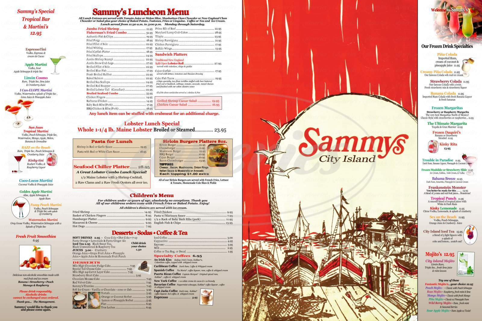 menu for Sammy's Fish Box