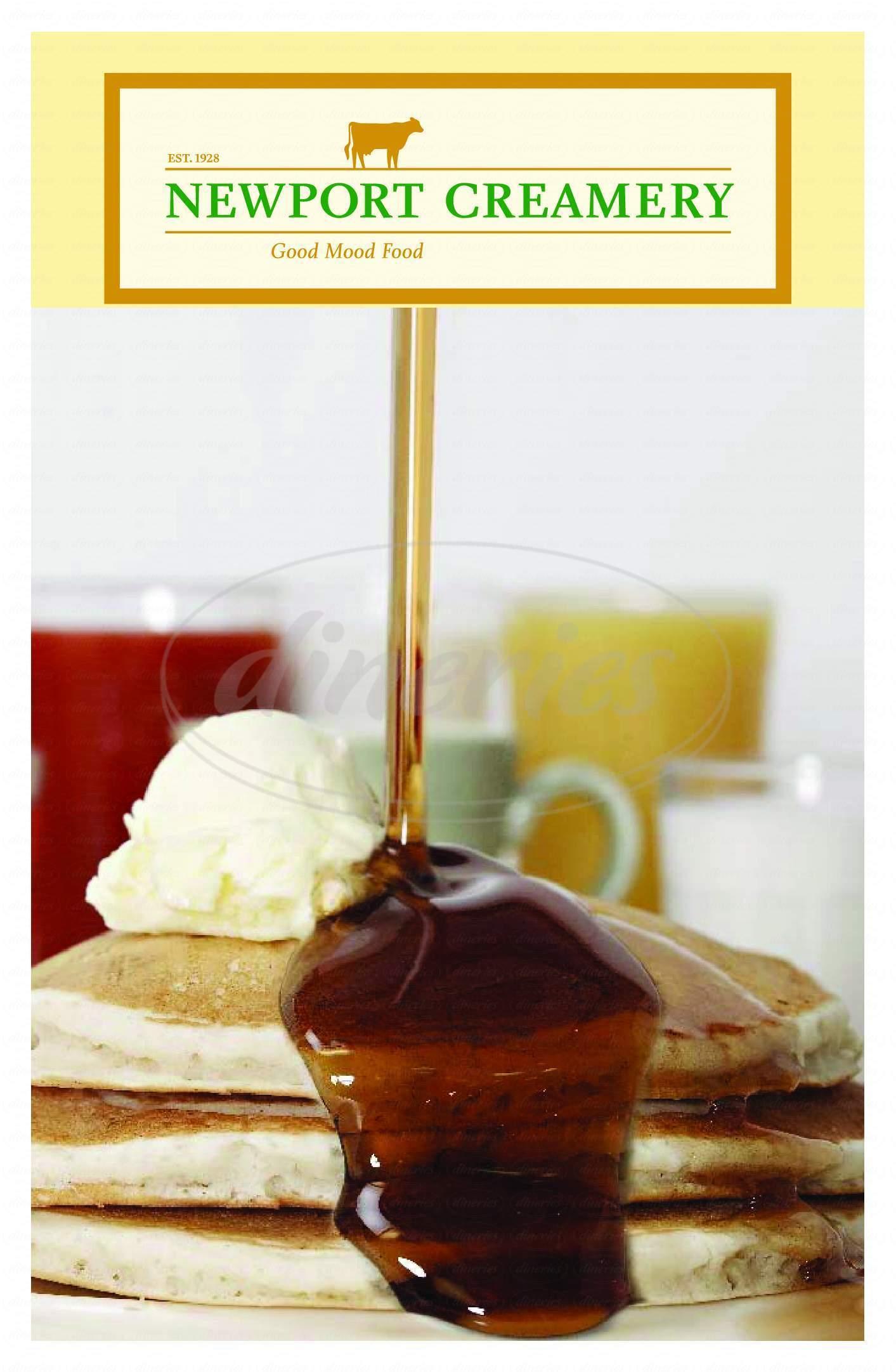 menu for Newport Creamery