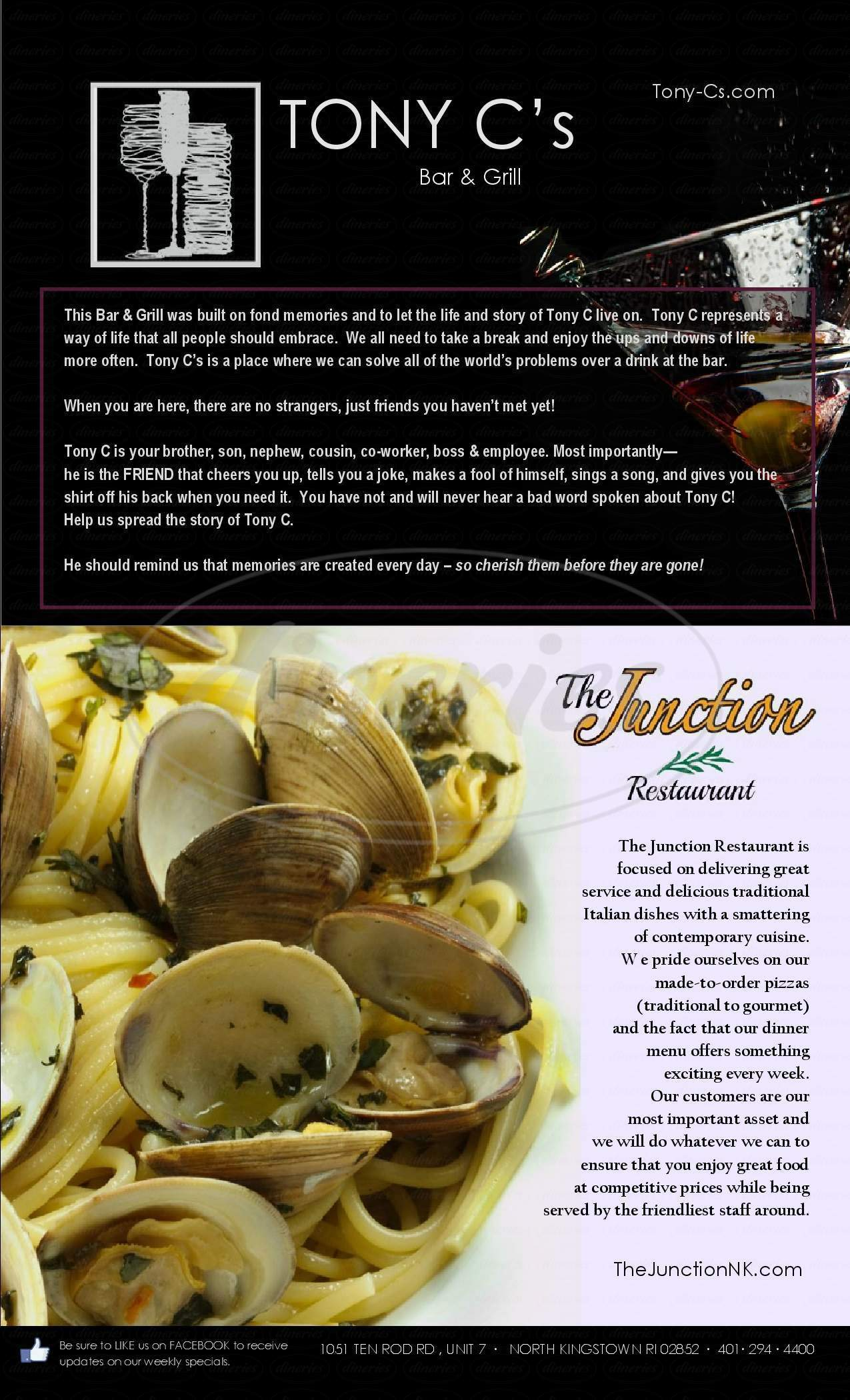 menu for Junction Trattoria & Bistro