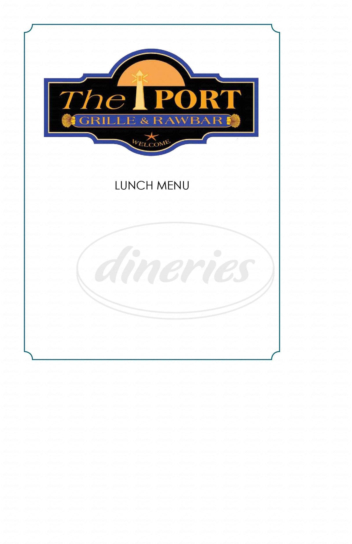 menu for The Port