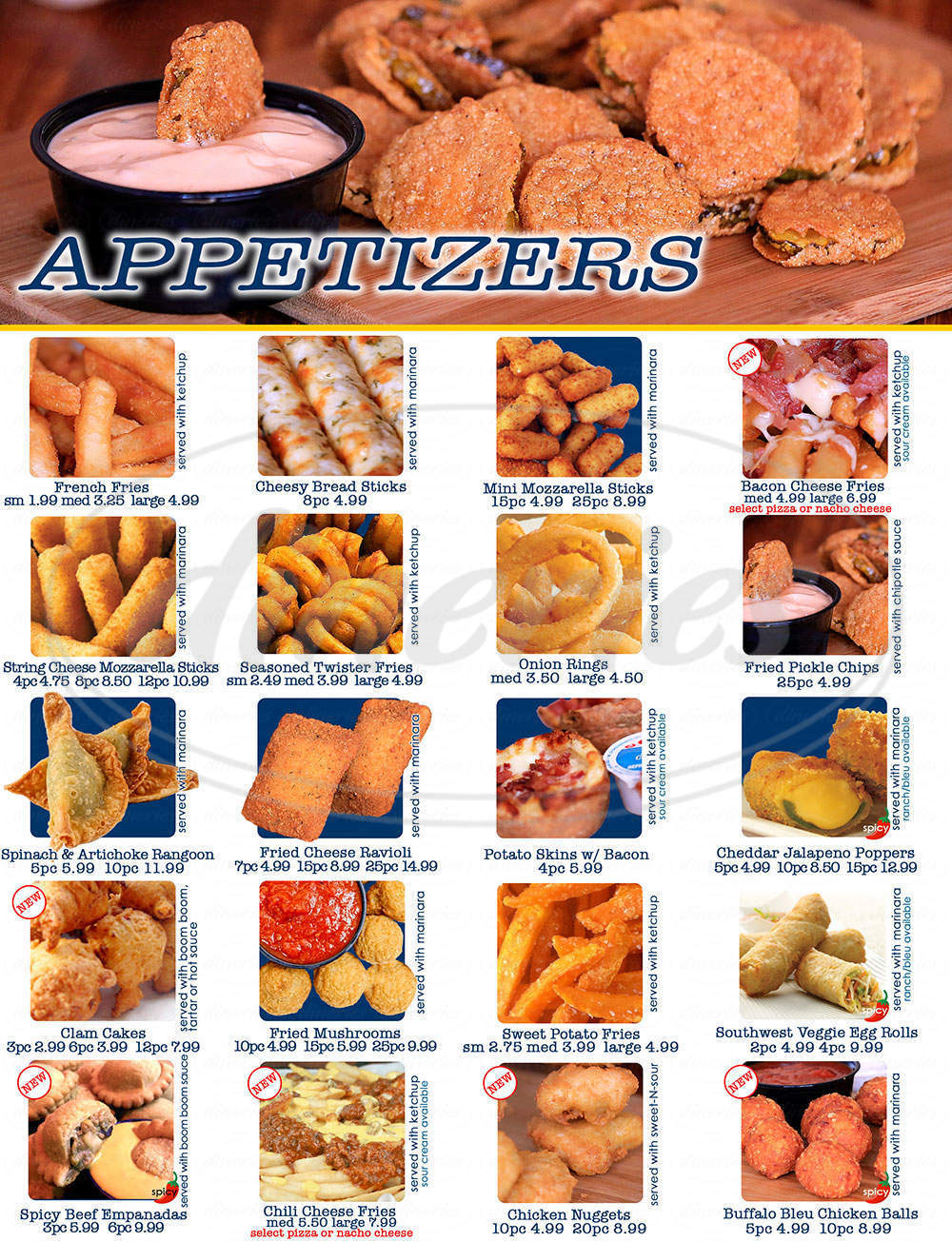 menu for Village Pizza