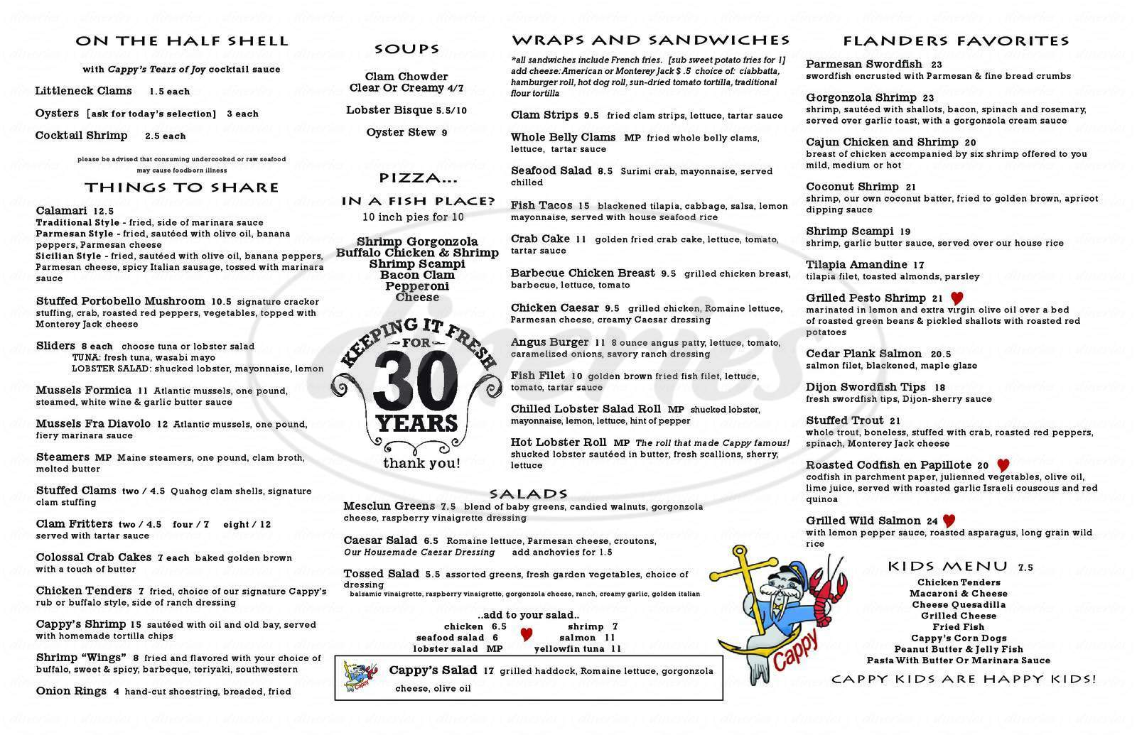 menu for Flanders Fish Market & Restaurant