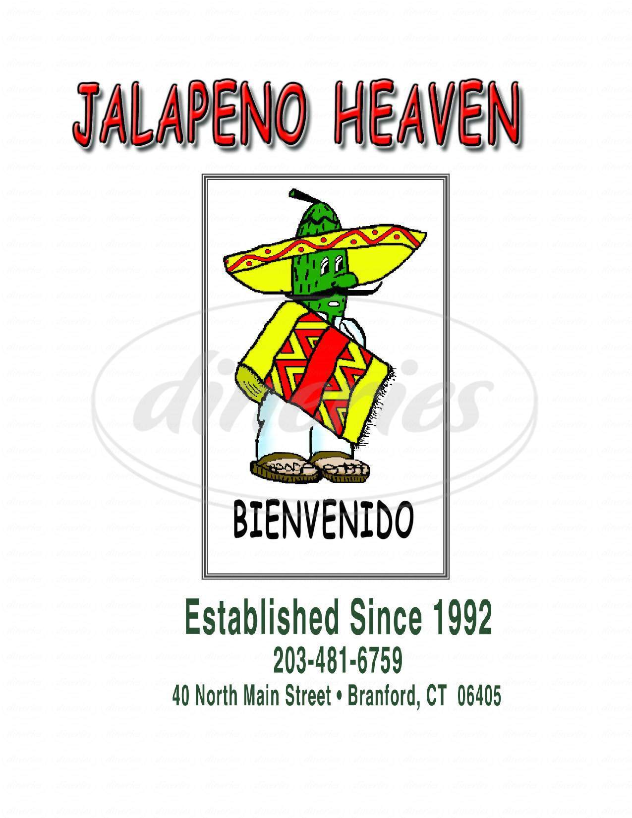 menu for Jalapeno Heaven