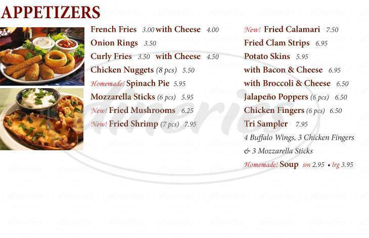 menu for Pizza Heaven 2