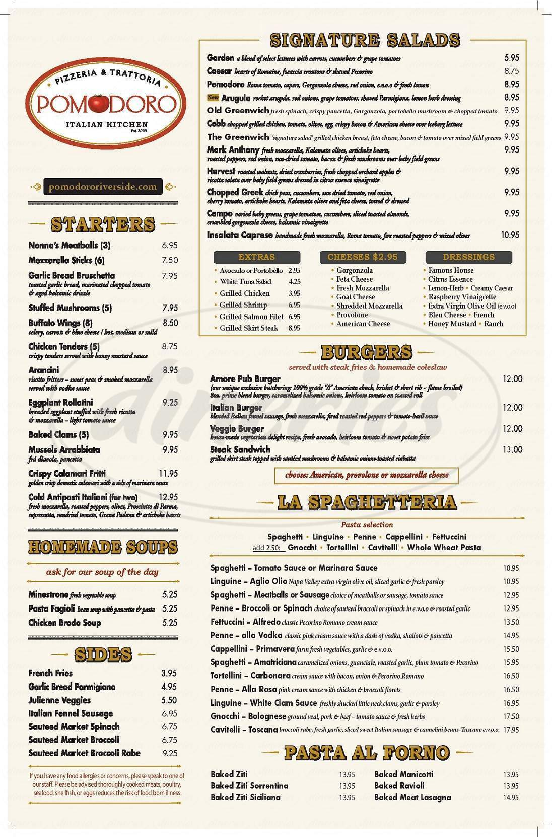 menu for Pomodoro