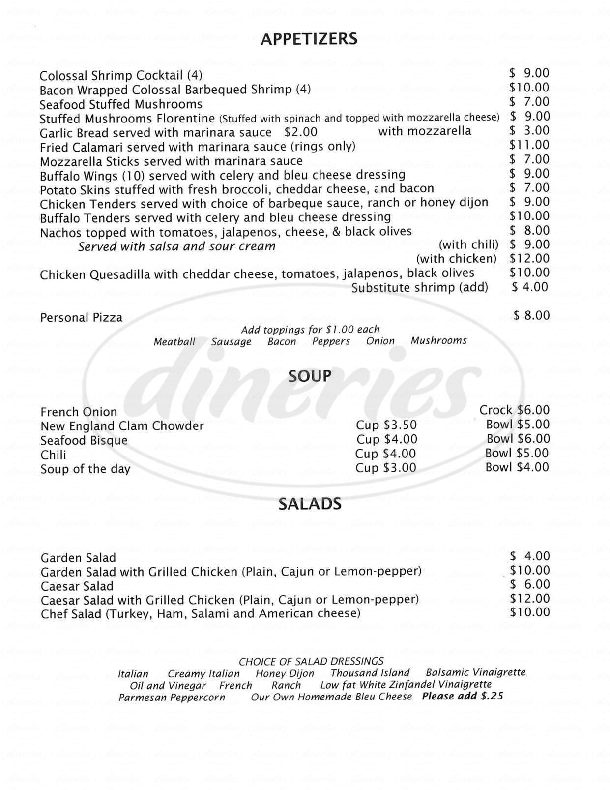 menu for Brothers Restaurant