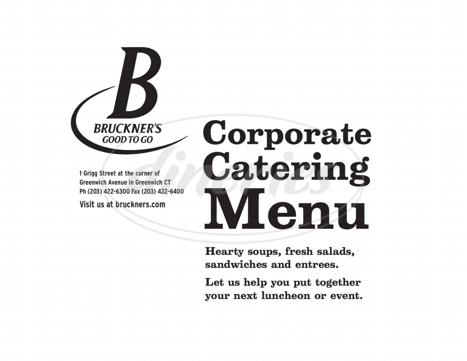menu for Bruckner's Good to Go