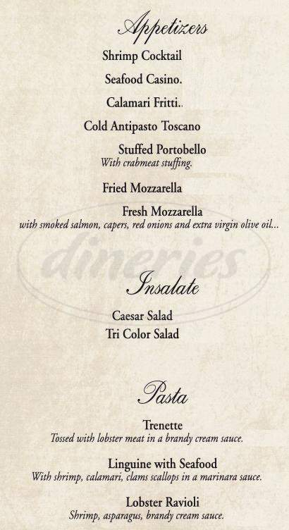 menu for Carmine's Tuscan Grill