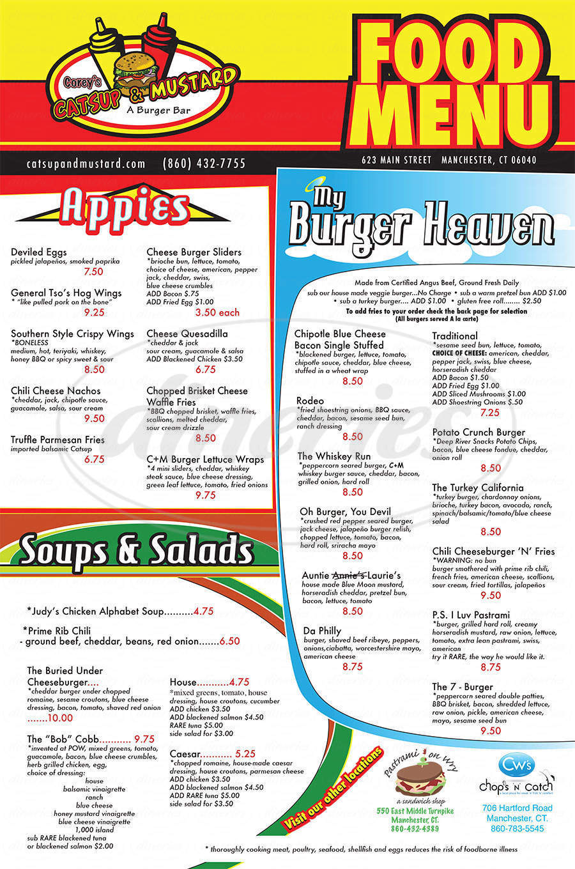 menu for Corey's Catsup & Mustard