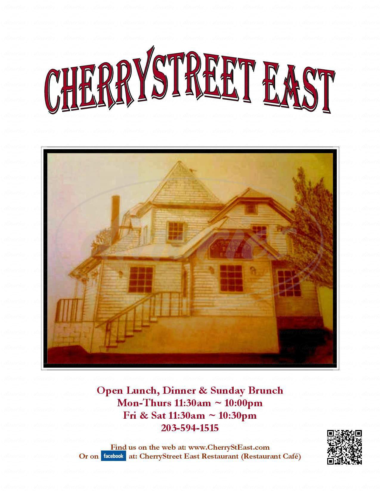 menu for Cherry Street East