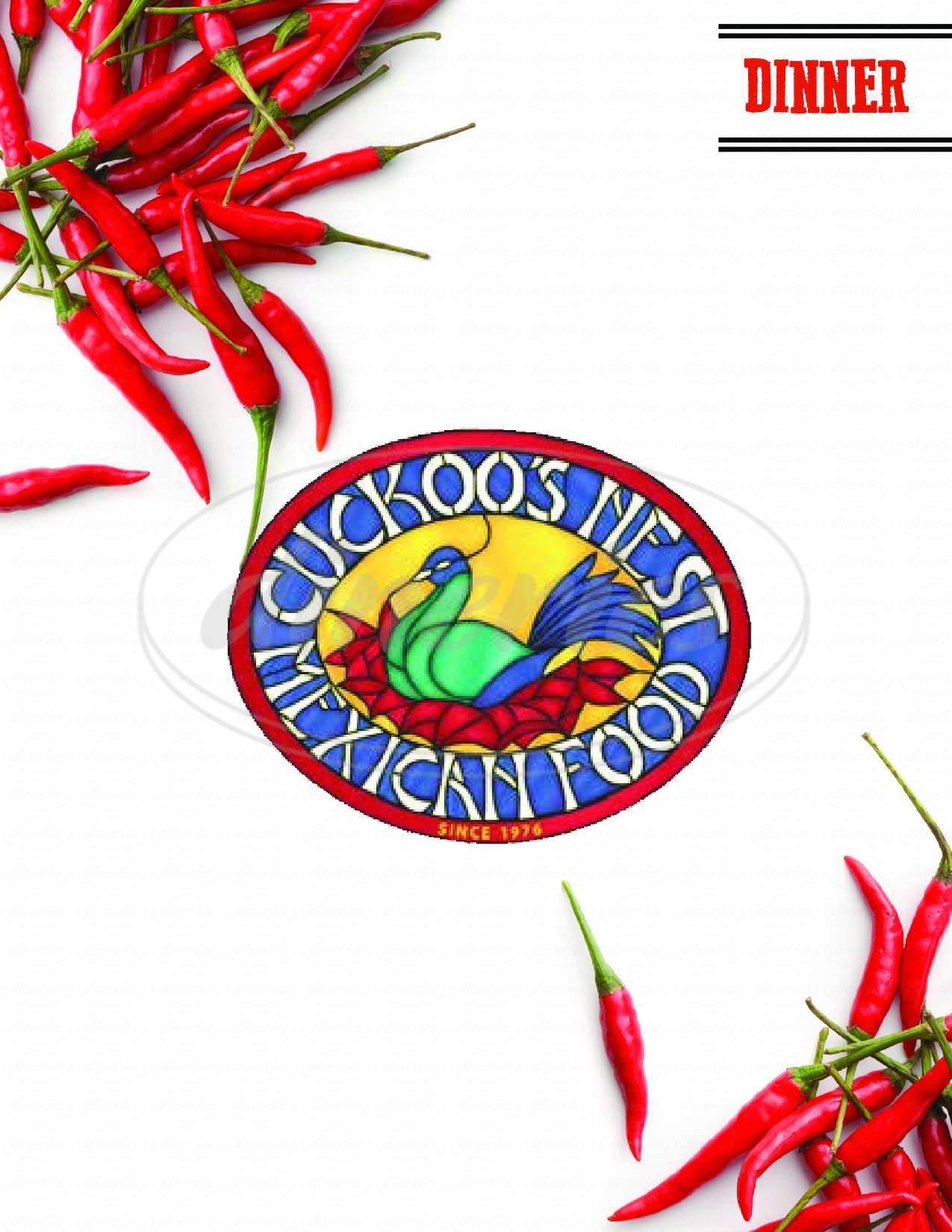 menu for Cuckoo's Nest