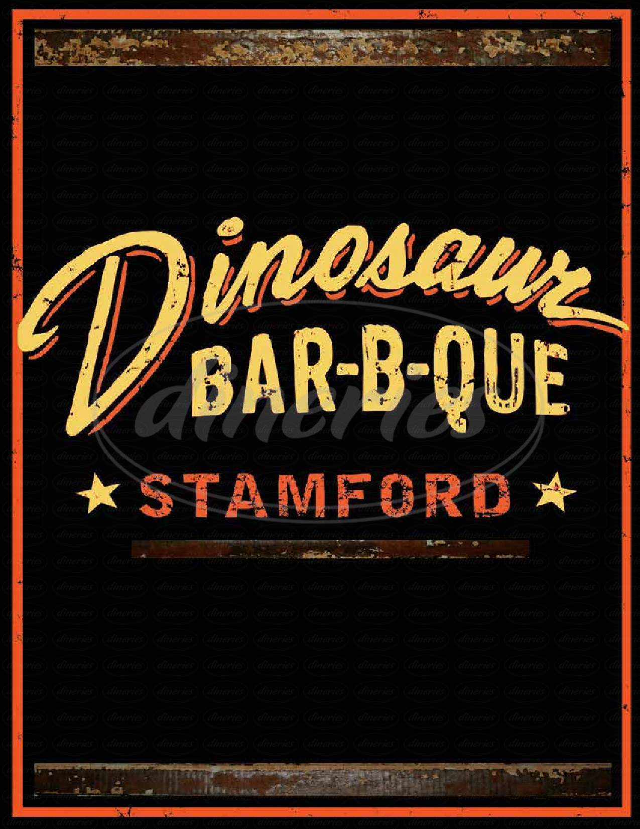 menu for Dinosaur BBQ