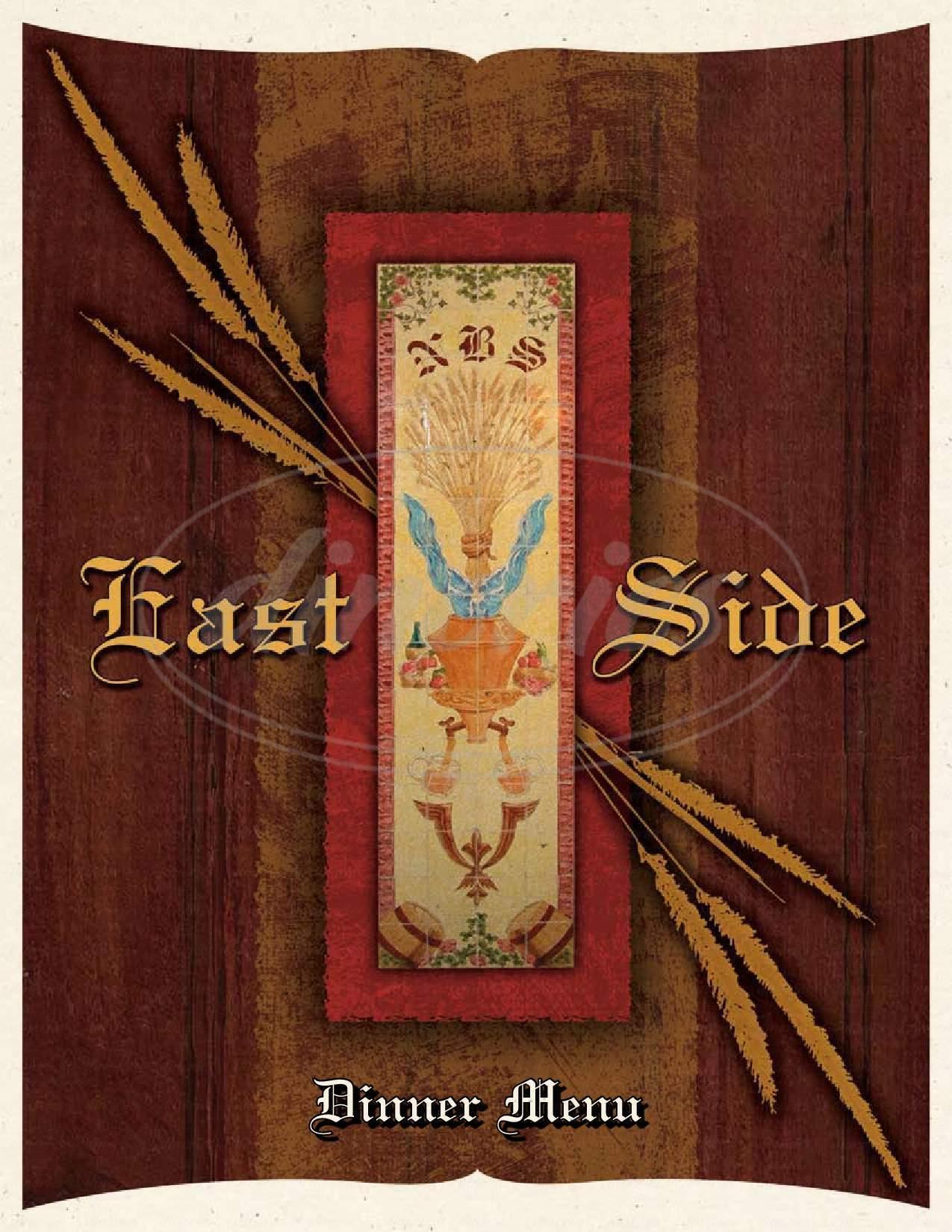menu for East Side Restaurant