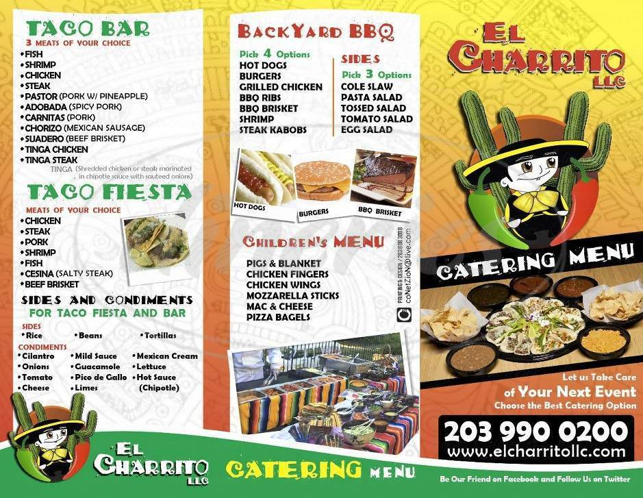 menu for El Charrito