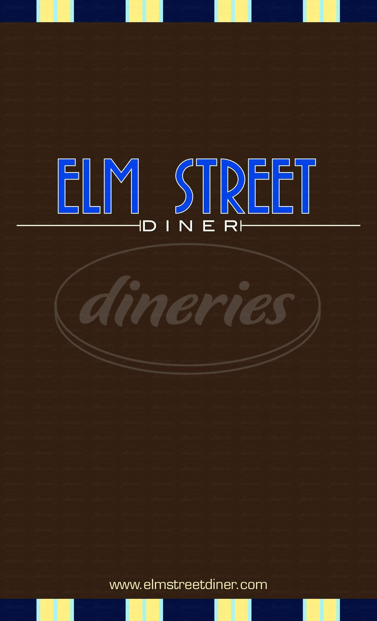 menu for Elm Street Diner