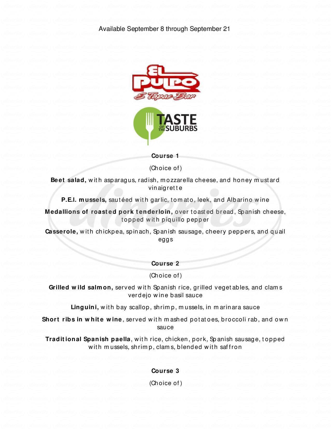 menu for El Pulpo Restaurant & Tapas Bar