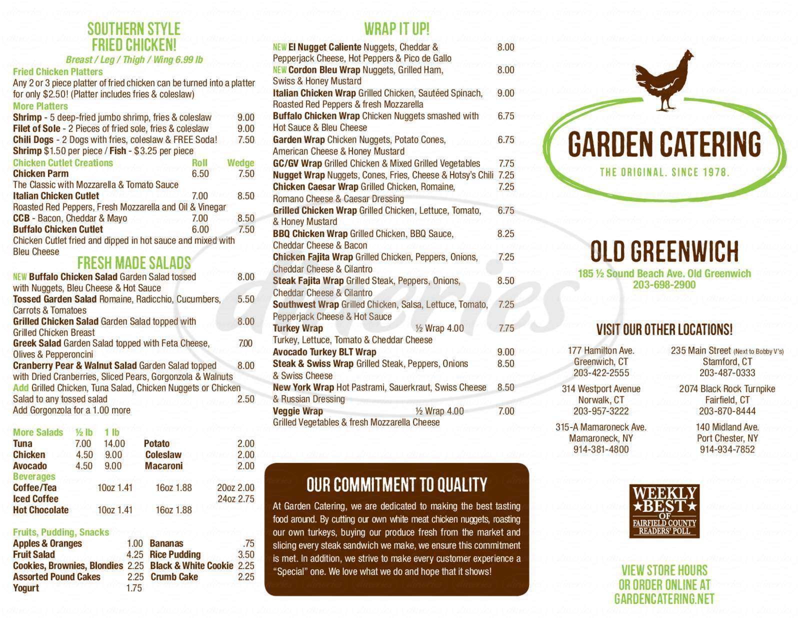 menu for garden catering - Garden Catering