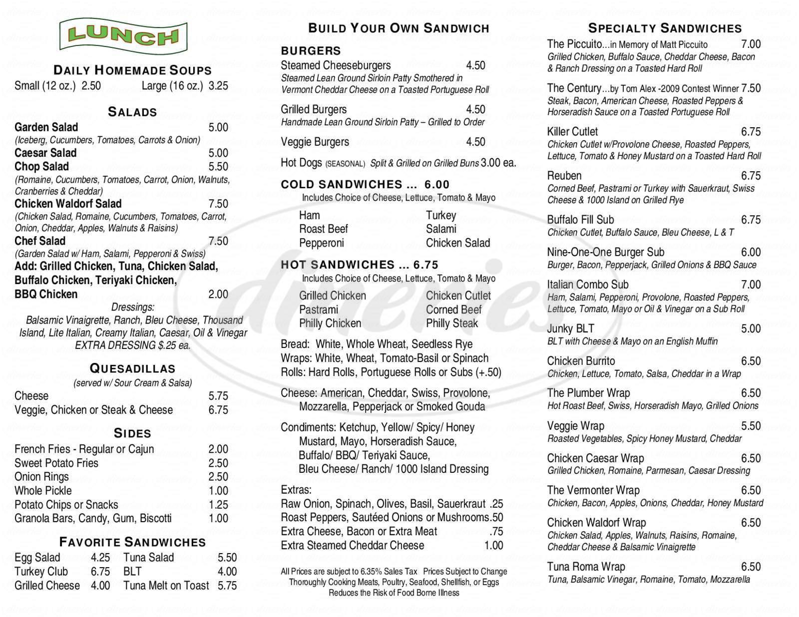 menu for Good To Go