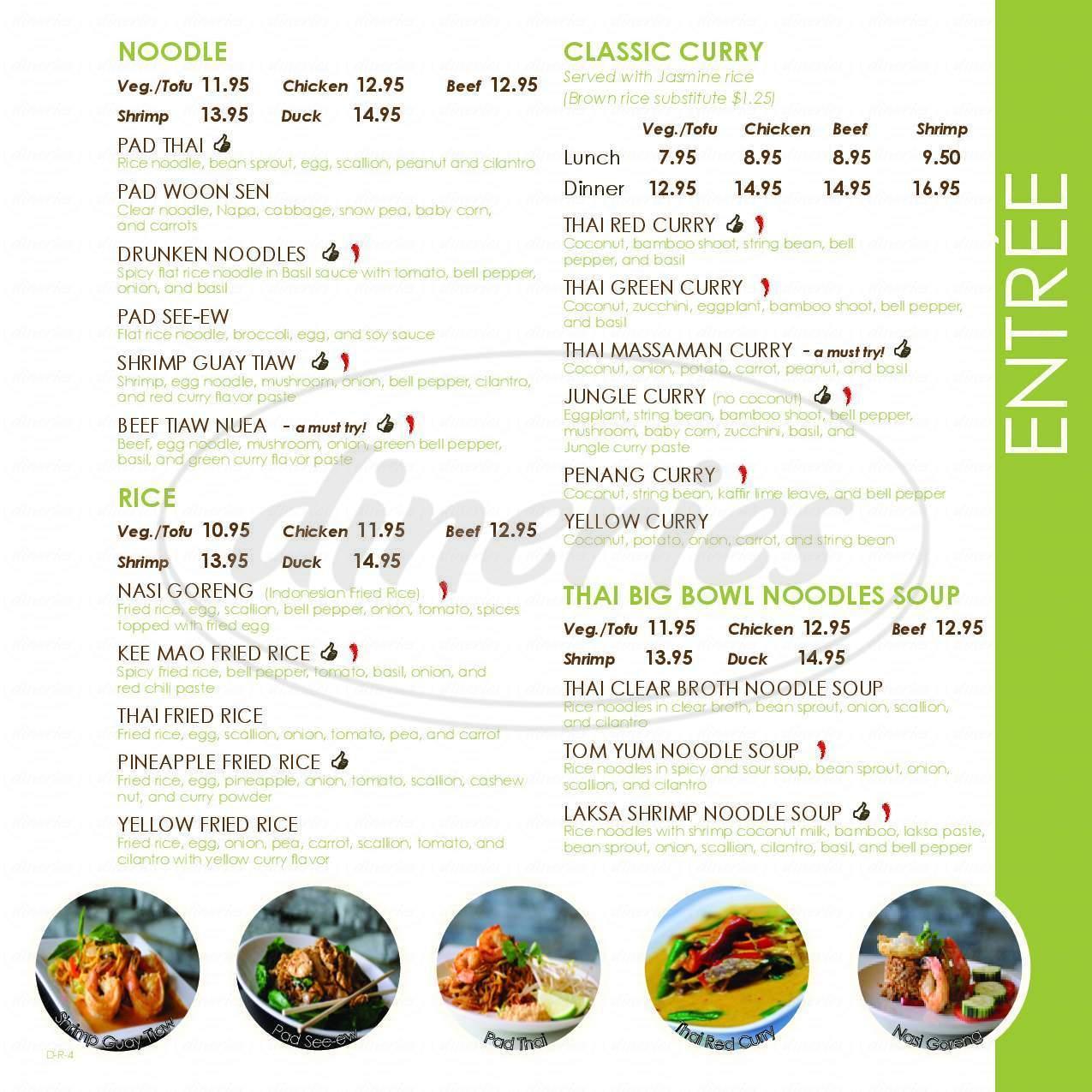 Little Thai Kitchen Big Menu - Darien - Dineries