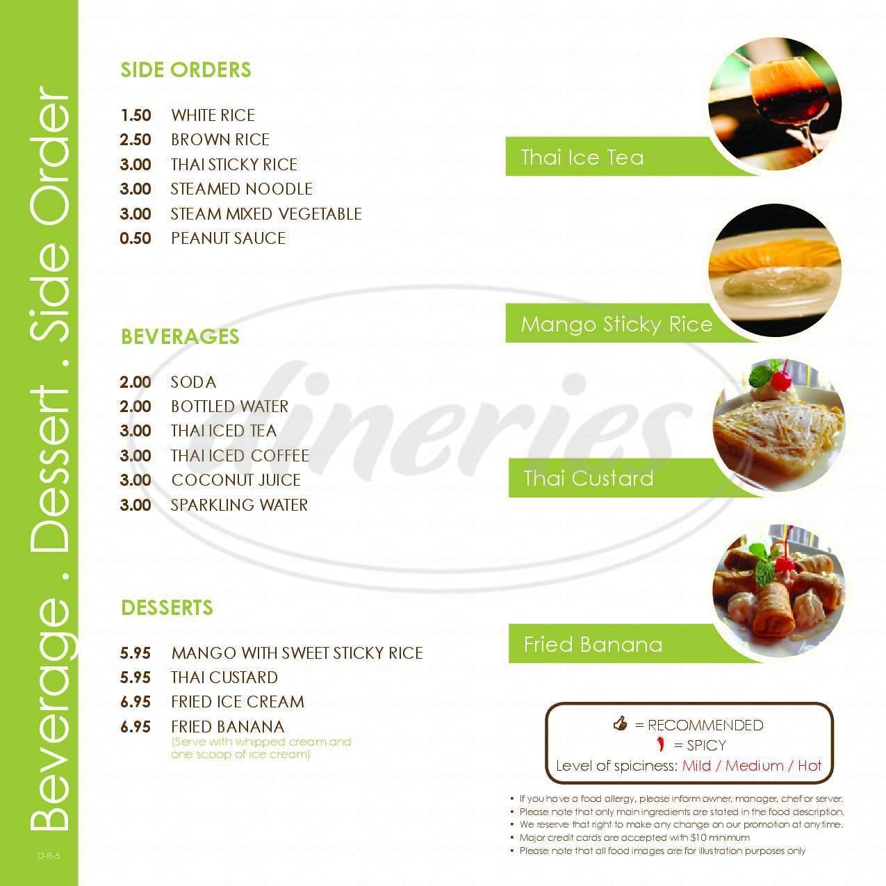 Little Thai Kitchen Menu - Darien - Dineries