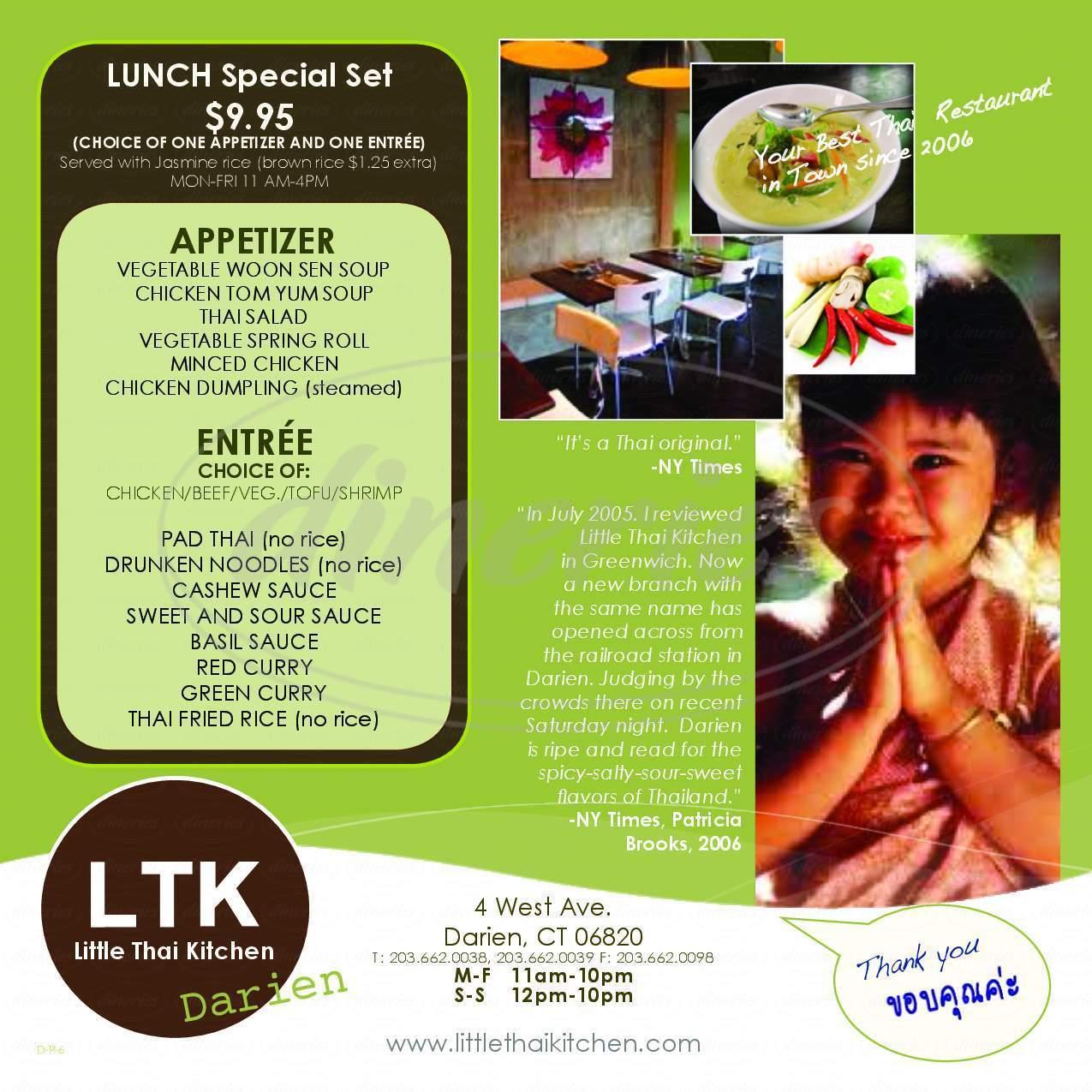 Little Thai Kitchen Darien | Little Thai Kitchen Menu Darien Dineries
