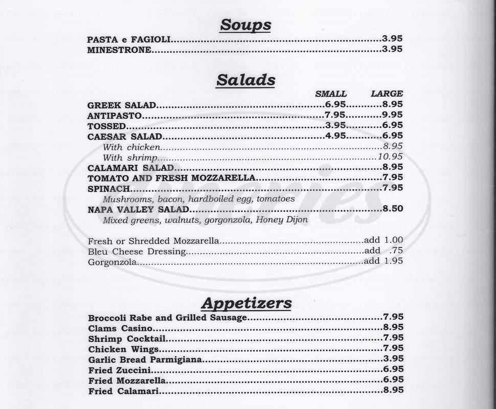 menu for Mangia Mangia