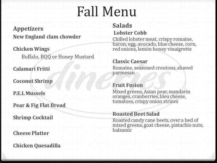 menu for Mattabesett Canoe Club