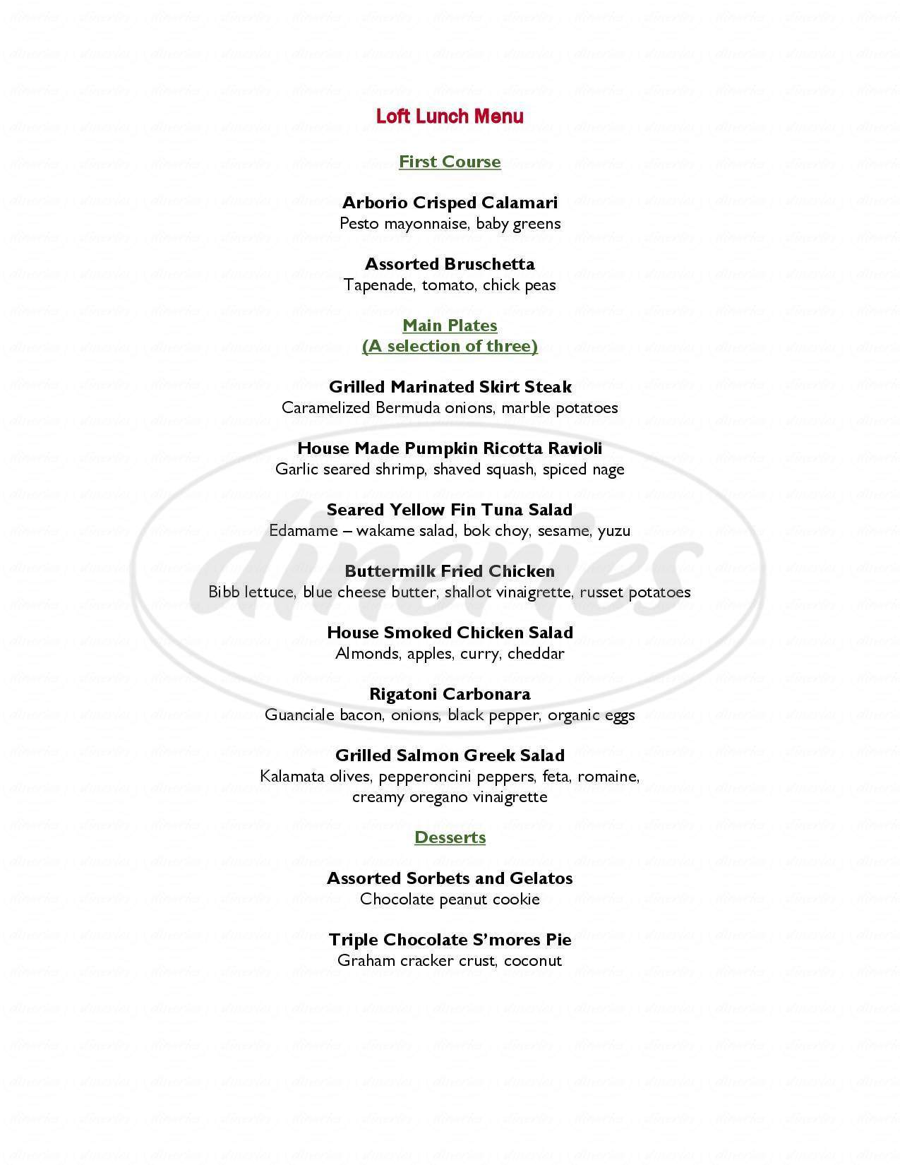 menu for Trumbull Kitchen