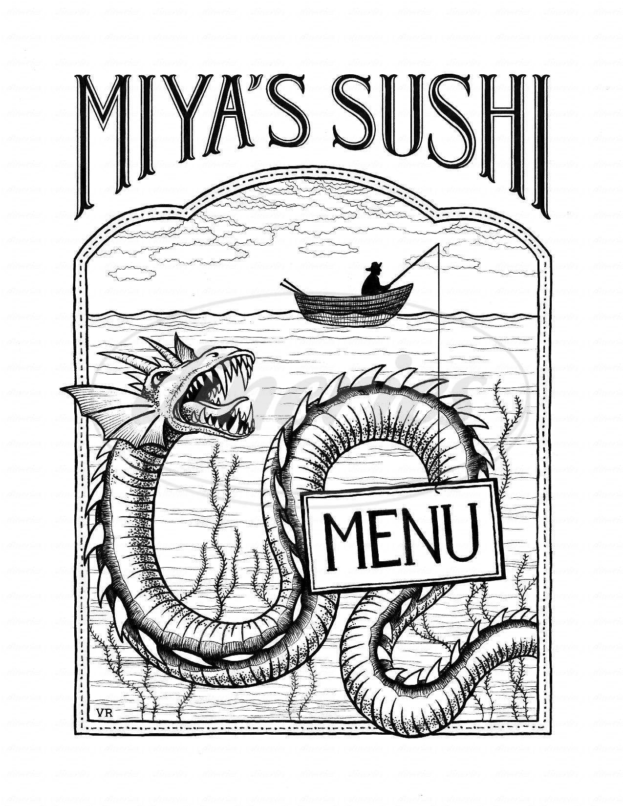 menu for Miya's Sushi
