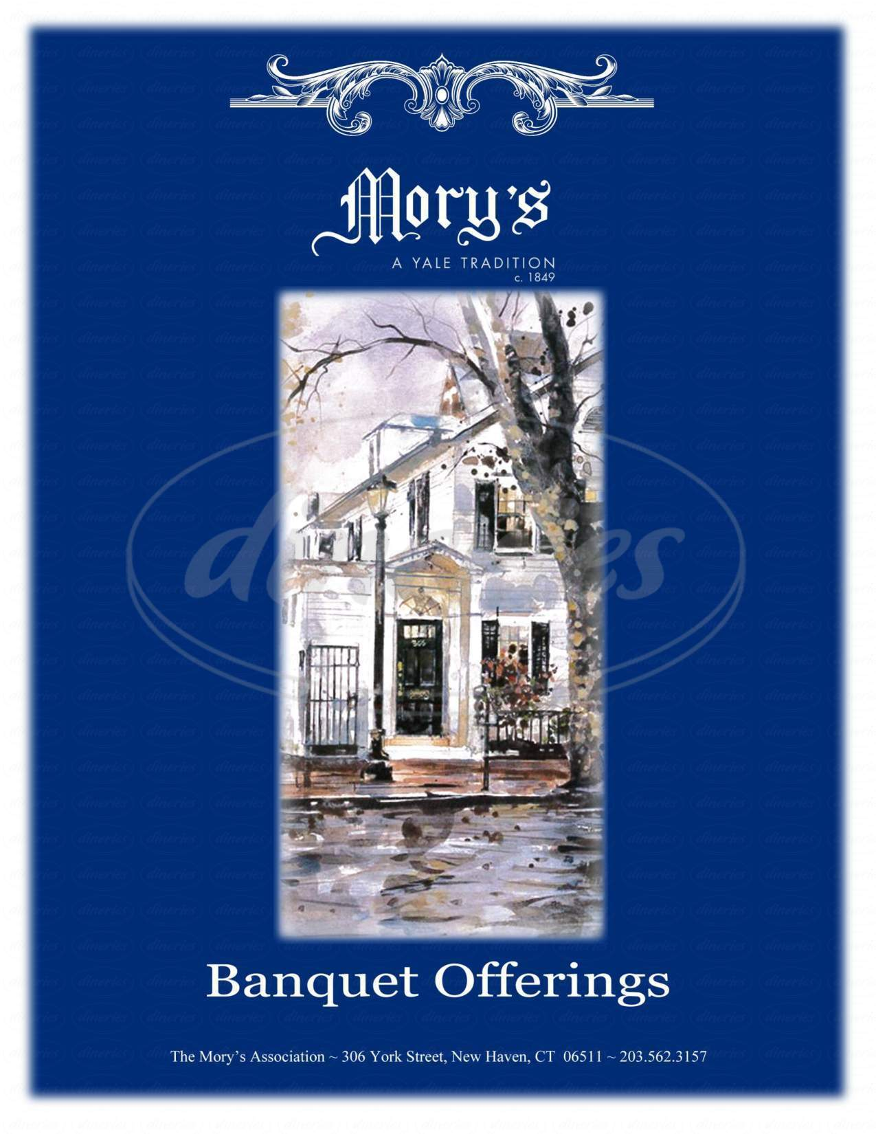menu for Mory's Association Inc