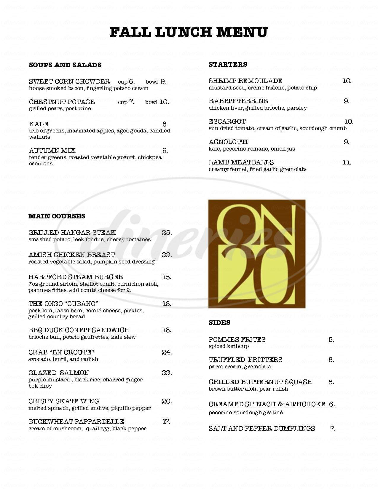 menu for ON20