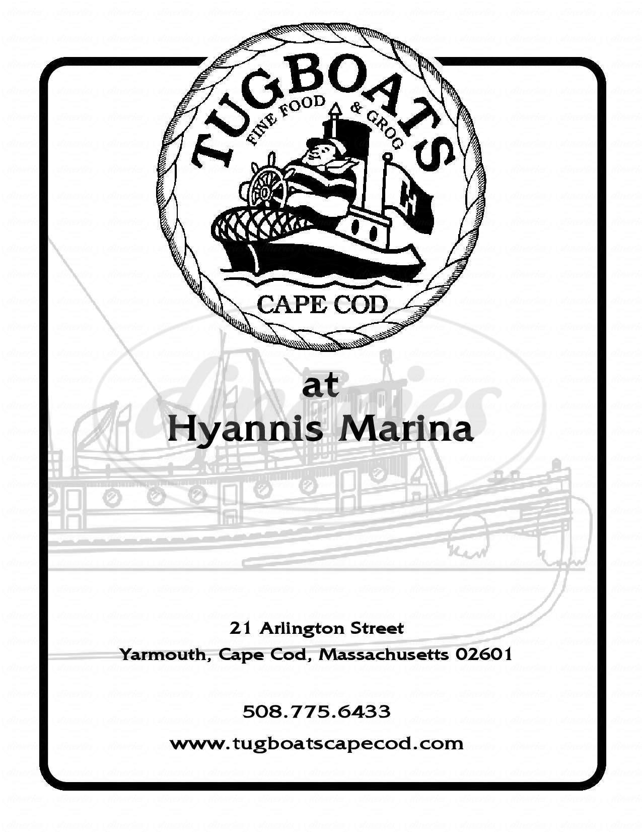 menu for Tugboat