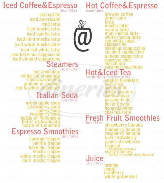 menu for @Union