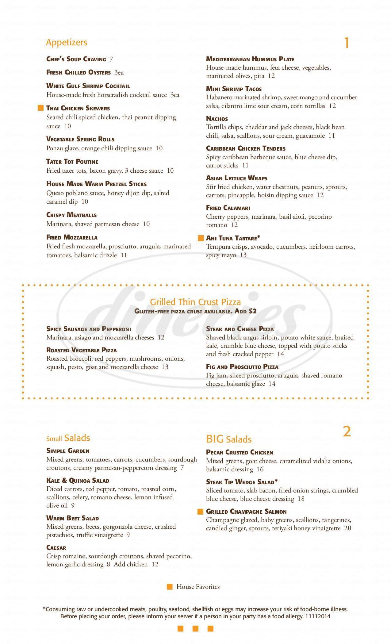 menu for 3