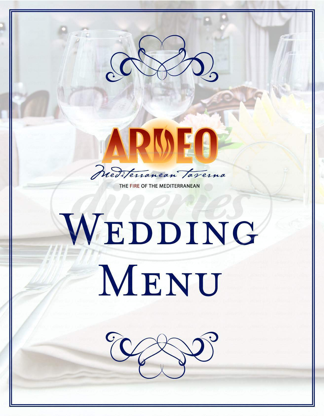 menu for Ardeo Mediterranean Taverna