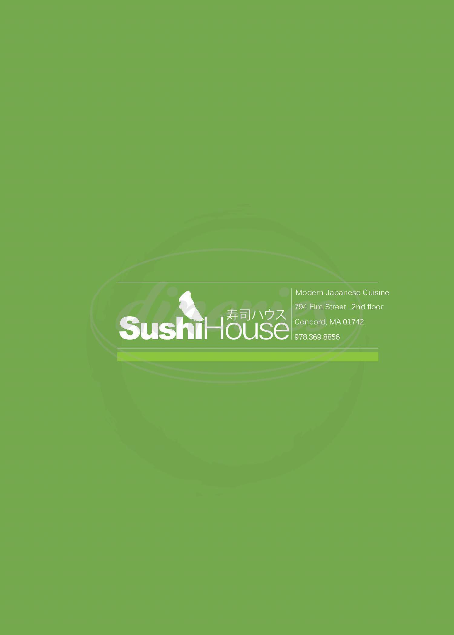 menu for Sushi House