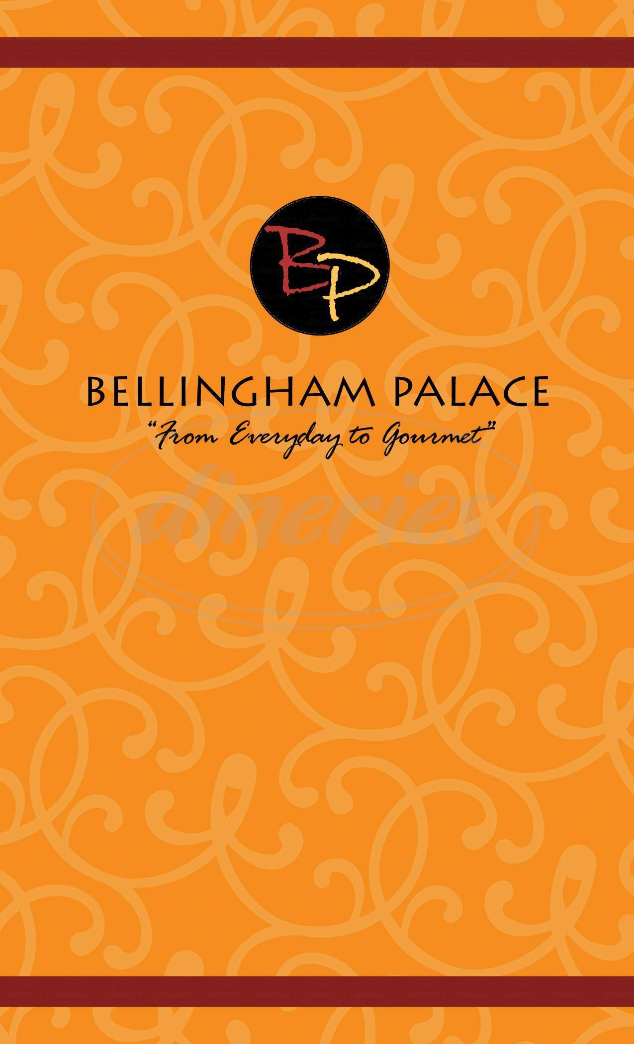menu for The Bellingham Palace