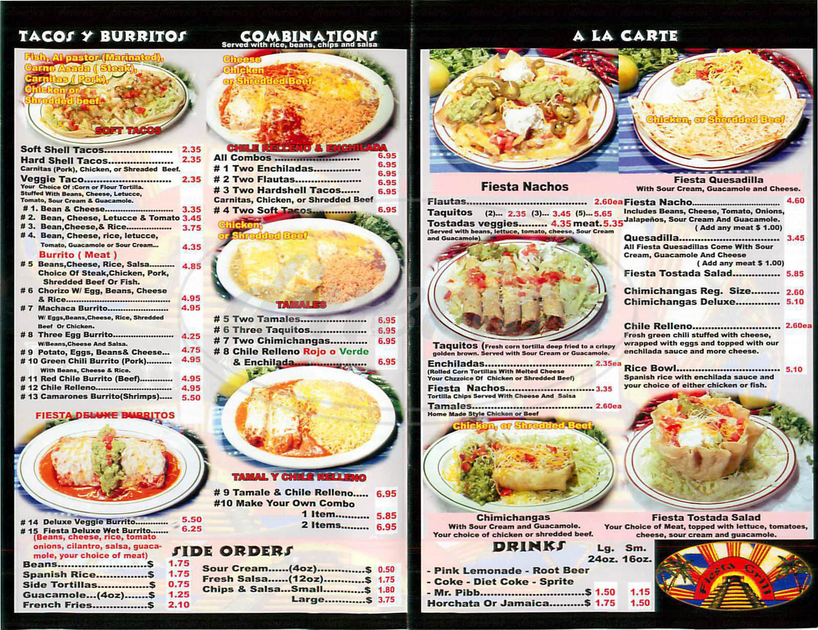Fiesta Grill Menu - Huntington Beach - Dineries