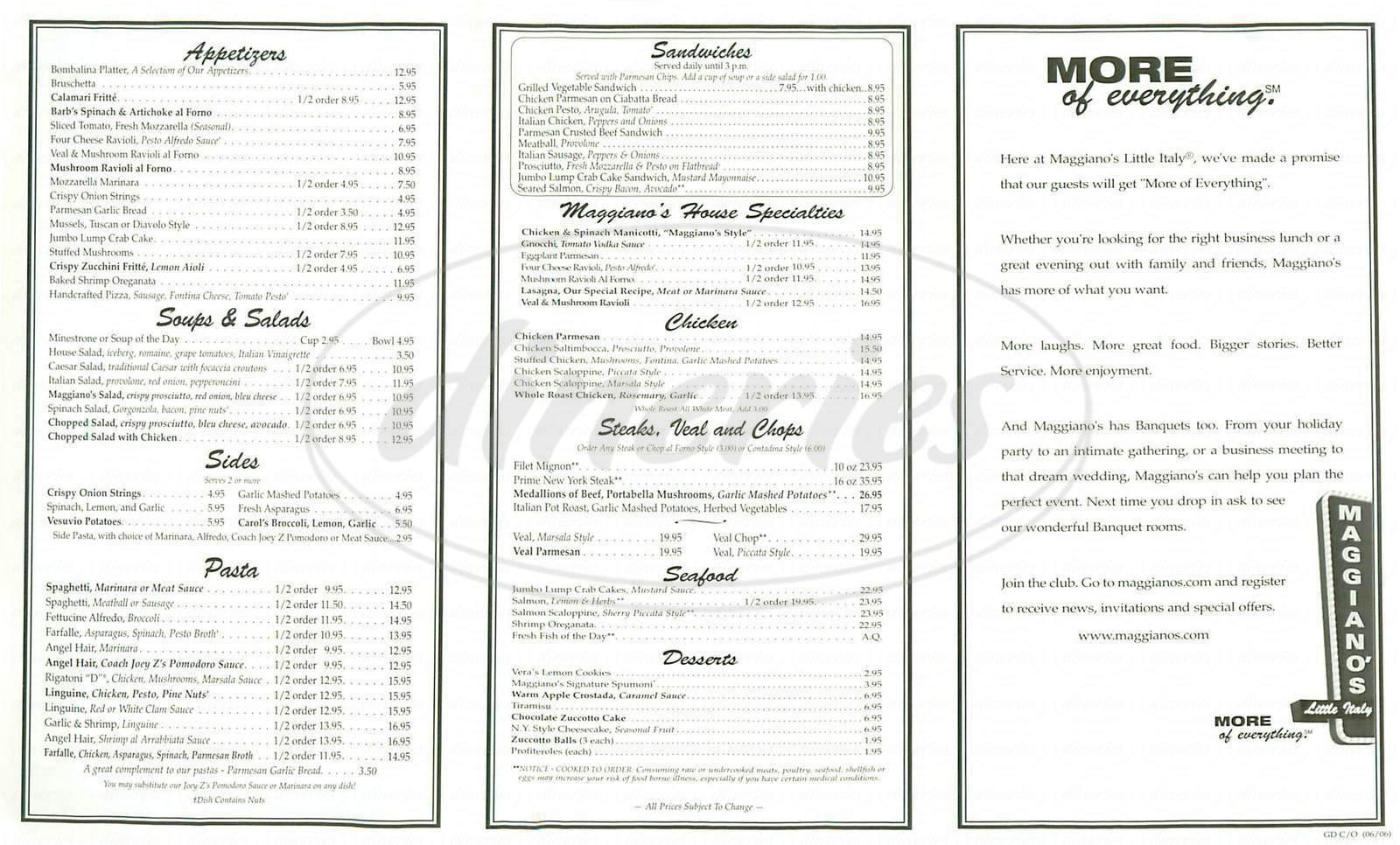 Santana Restaurant Menu