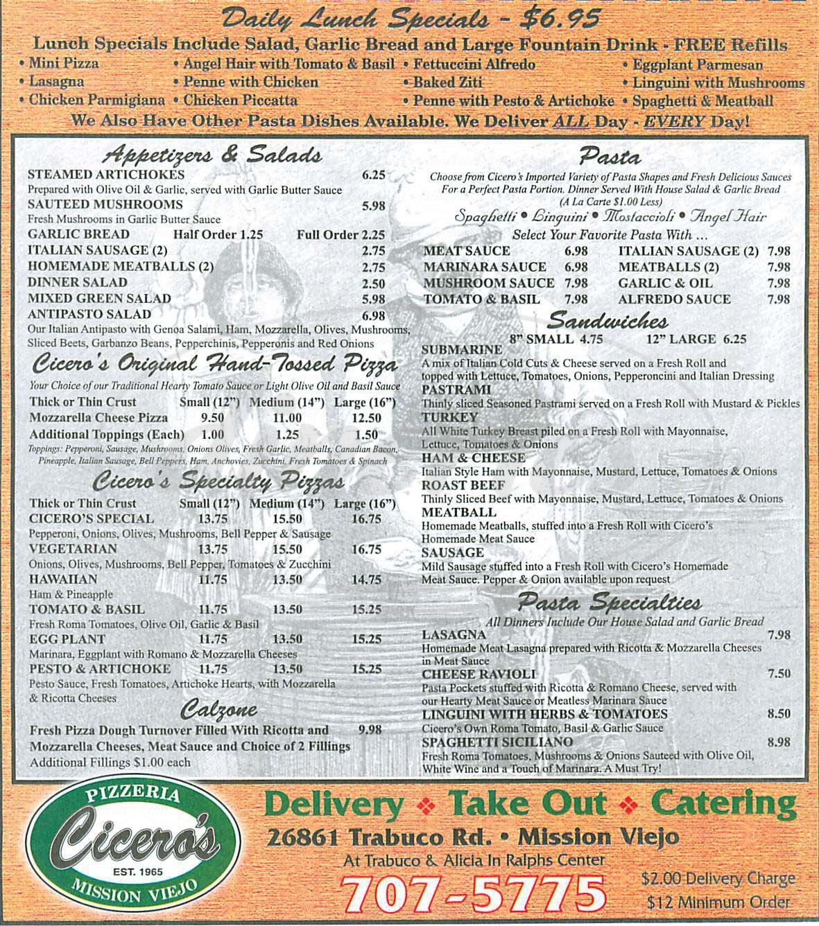 ciceros coupons mission viejo