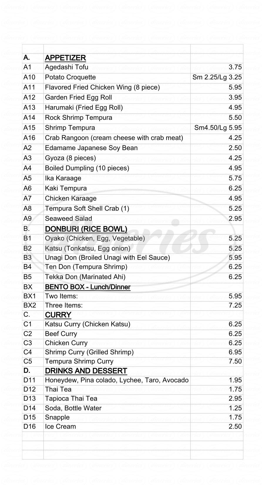 Oriental Kitchen Menu Daly City Dineries