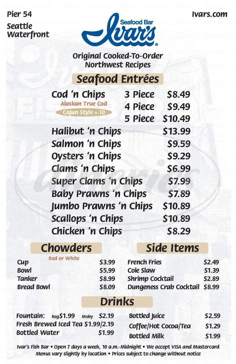 Ivar's Seafood Bar Menu - Puyallup - Dineries