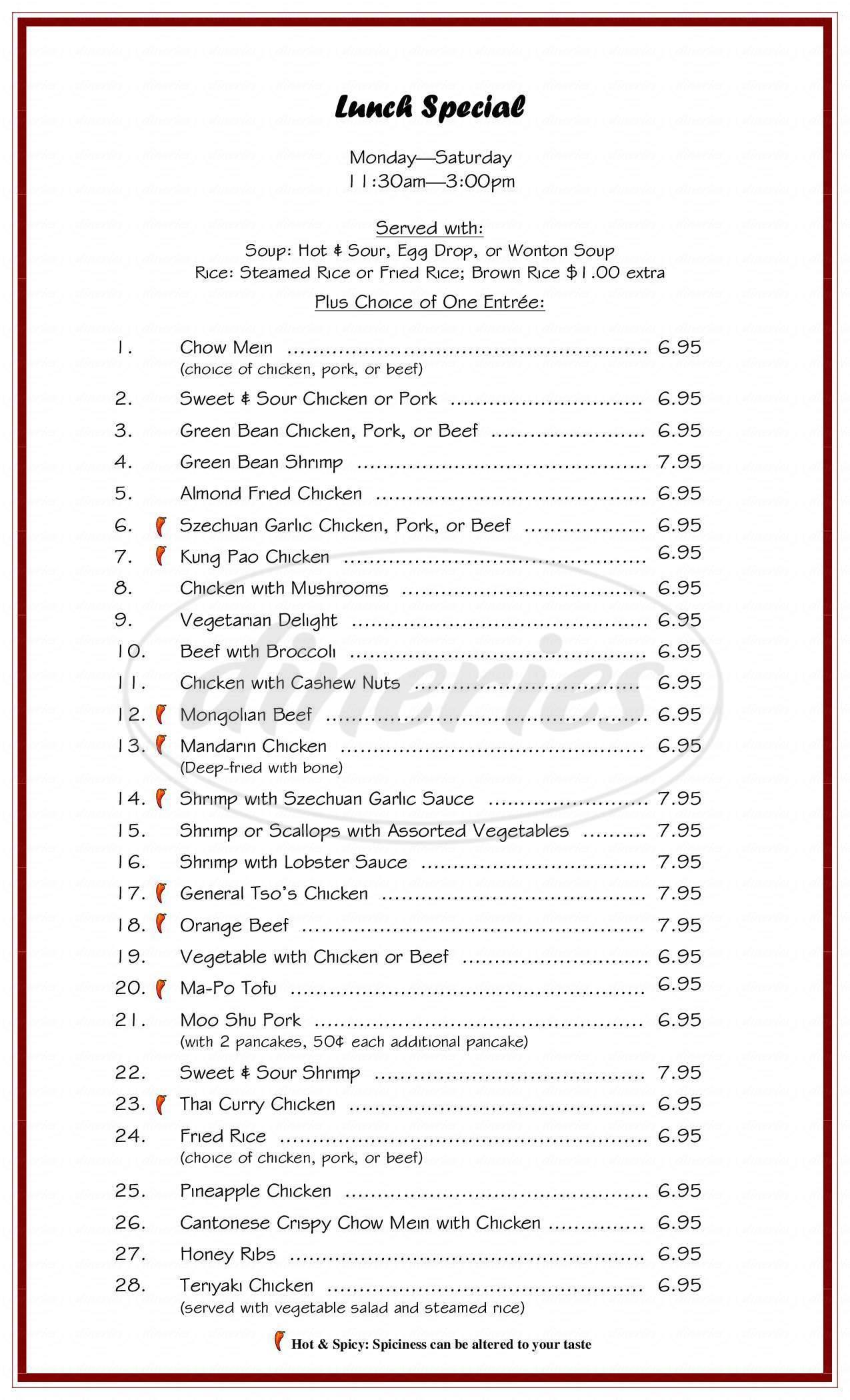 Magic Wok Restaurant Big Menu Federal Way Dineries